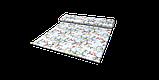 Декоративна тканина сакура червоне з жовтим на блакитному тлі 88137v6, фото 9
