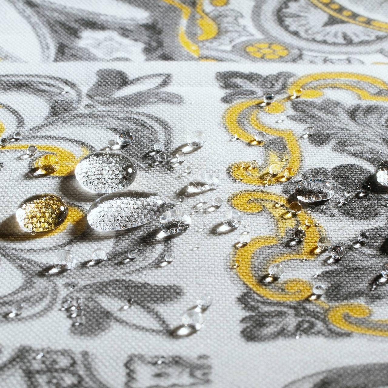 Декоративна тканина плитка золота 20286v8 180см Туреччина