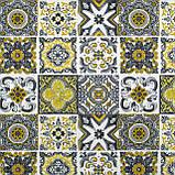 Декоративна тканина плитка золота 20286v8 180см Туреччина, фото 2