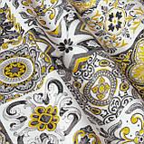 Декоративна тканина плитка золота 20286v8 180см Туреччина, фото 3