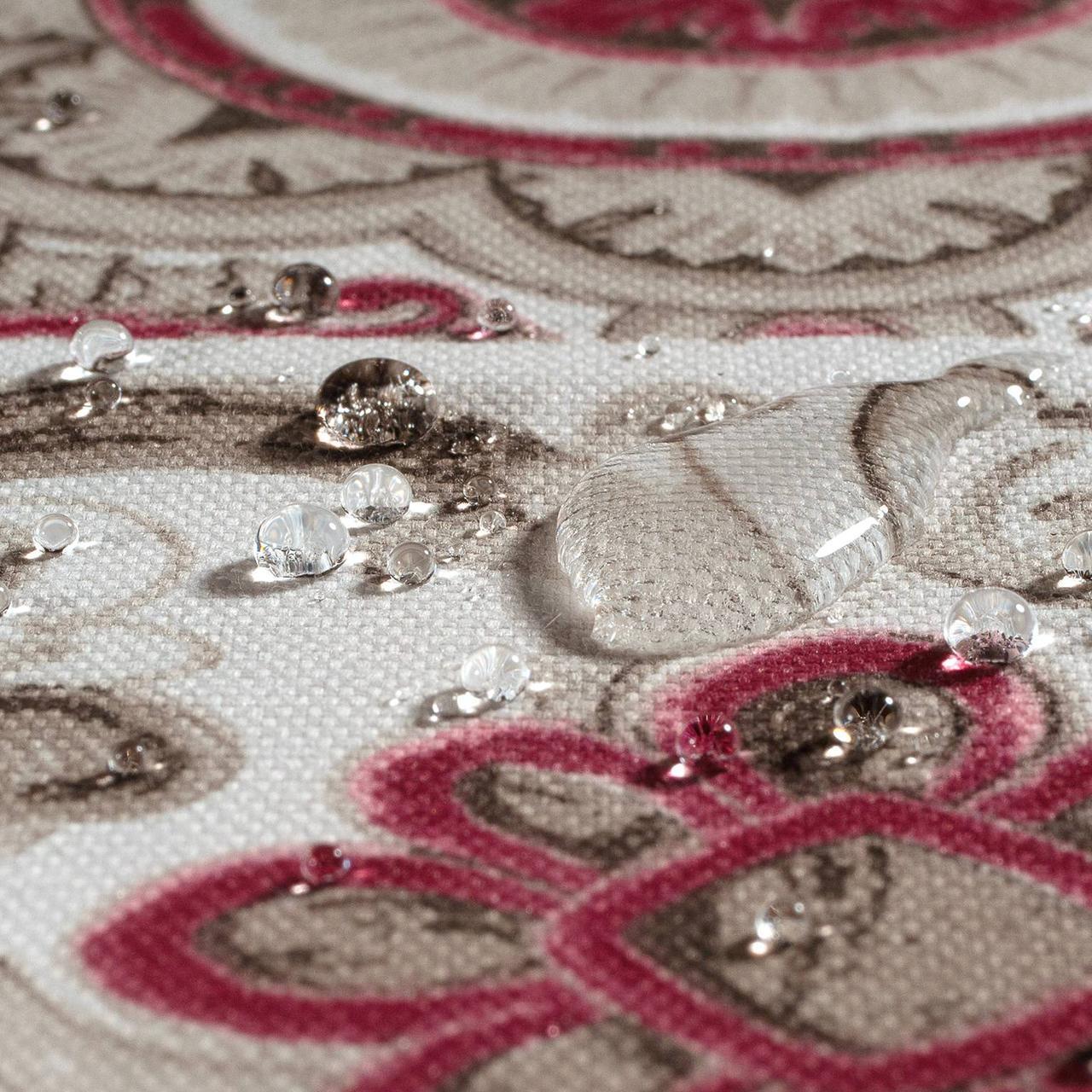 Декоративная ткань плитка рубин 20286v15 на тефлоне
