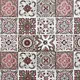 Декоративная ткань плитка рубин 20286v15 на тефлоне, фото 2