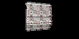 Декоративная ткань плитка рубин 20286v15 на тефлоне, фото 7