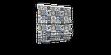 Декоративная ткань плитка синяя 20286v1 180см, фото 8