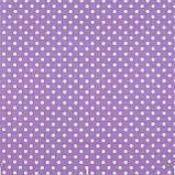 Декоративная ткань горох сиреневый 012706v7 Турция, фото 2