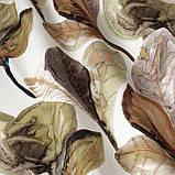 Декоративна тканина листя великі коричневі акварель Іспанія 280см 88096v7, фото 2