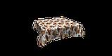Декоративна тканина листя великі коричневі акварель Іспанія 280см 88096v7, фото 3