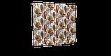 Декоративна тканина листя великі коричневі акварель Іспанія 280см 88096v7, фото 4