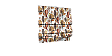 Декоративна тканина листя великі коричневі акварель Іспанія 280см 88096v7, фото 6