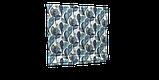 Декоративная ткань синие листья крупные акварель Испания 280см 88093v3, фото 4