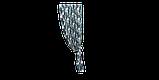Декоративная ткань синие листья крупные акварель Испания 280см 88093v3, фото 5
