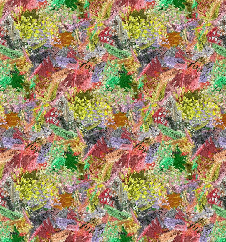 Декоративна тканина мімози в стилі Ван Гога 88075v1