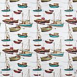 Декоративна тканина човники 180см Туреччина 88042v8, фото 2