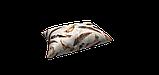 Декоративна тканина пір'я коричневі на бежевому тлі Туреччина 88027v9, фото 3