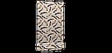 Декоративна тканина пір'я коричневі на бежевому тлі Туреччина 88027v9, фото 5