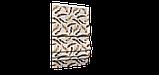 Декоративна тканина пір'я коричневі на бежевому тлі Туреччина 88027v9, фото 6
