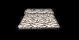 Декоративна тканина пір'я коричневі на бежевому тлі Туреччина 88027v9, фото 8