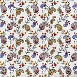 Декоративна тканина огірки червоно-жовті на білому тлі Туреччина 88026v5, фото 2