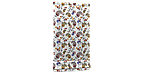 Декоративна тканина огірки червоно-жовті на білому тлі Туреччина 88026v5, фото 6