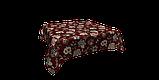 Декоративная ткань серые цветы на бордовом фоне Турция 87994v10, фото 3