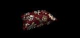 Декоративная ткань серые цветы на бордовом фоне Турция 87994v10, фото 4