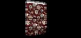Декоративная ткань серые цветы на бордовом фоне Турция 87994v10, фото 5
