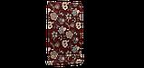Декоративная ткань серые цветы на бордовом фоне Турция 87994v10, фото 6
