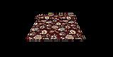 Декоративная ткань серые цветы на бордовом фоне Турция 87994v10, фото 8
