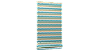 Декоративная ткань зигзаги миссони бирюзовые белые Турция 88006v6, фото 5