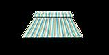 Декоративная ткань зигзаги миссони бирюзовые белые Турция 88006v6, фото 7