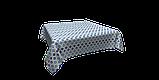 Декоративна тканина геометрія шестикутники сині на білому тлі Туреччина 87998v7, фото 3