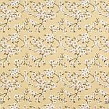 Декоративная ткань цветы сакура желтый Турция 88002v13, фото 2