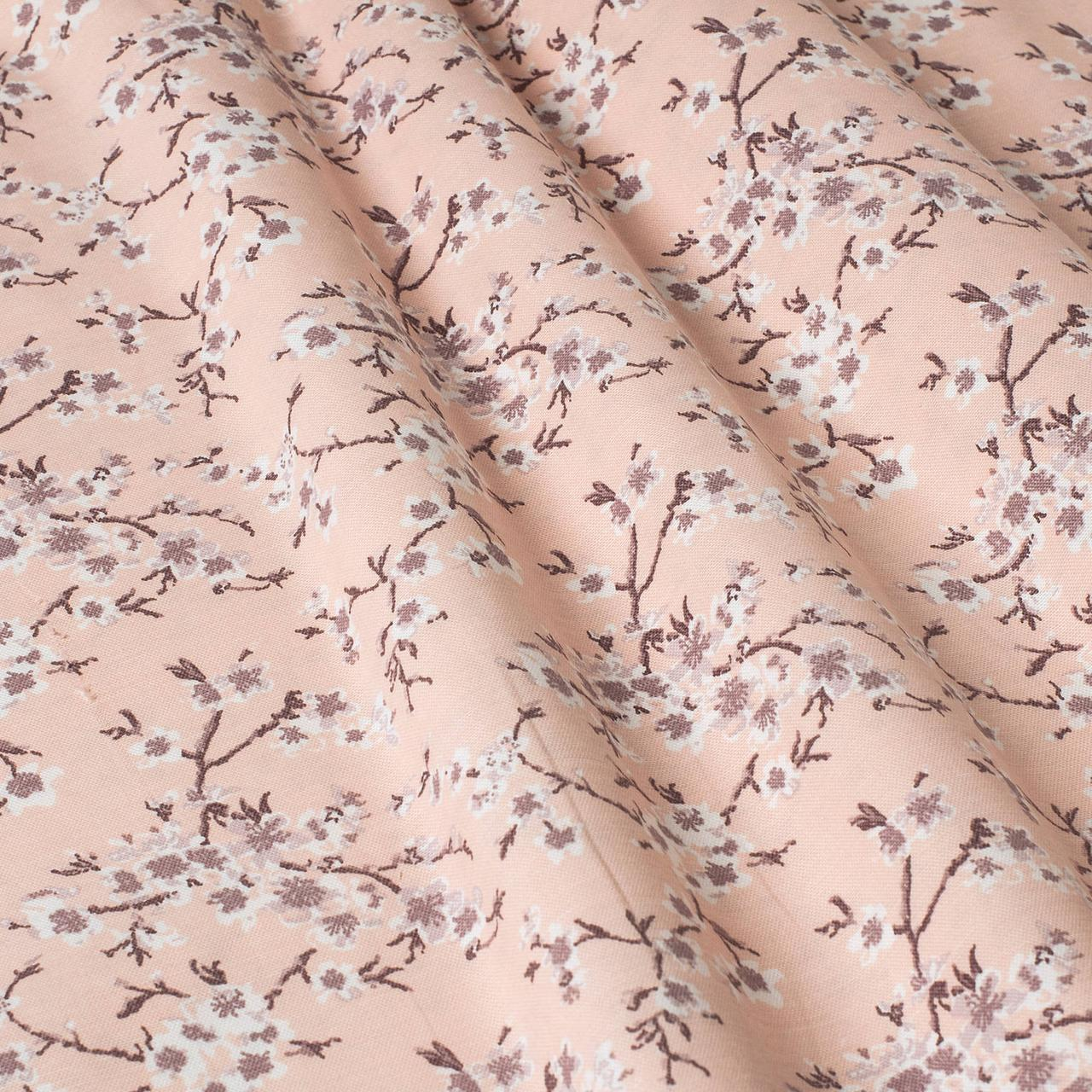 Декоративная ткань цветы сакура розовые Турция 88000v11