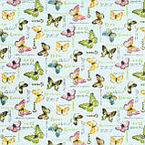 Декоративна тканина кольорові метелики пастель Туреччина 87982v16, фото 2