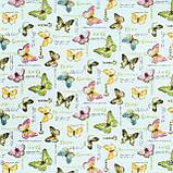 Декоративная ткань бабочки цветные пастель Турция 87982v16, фото 2