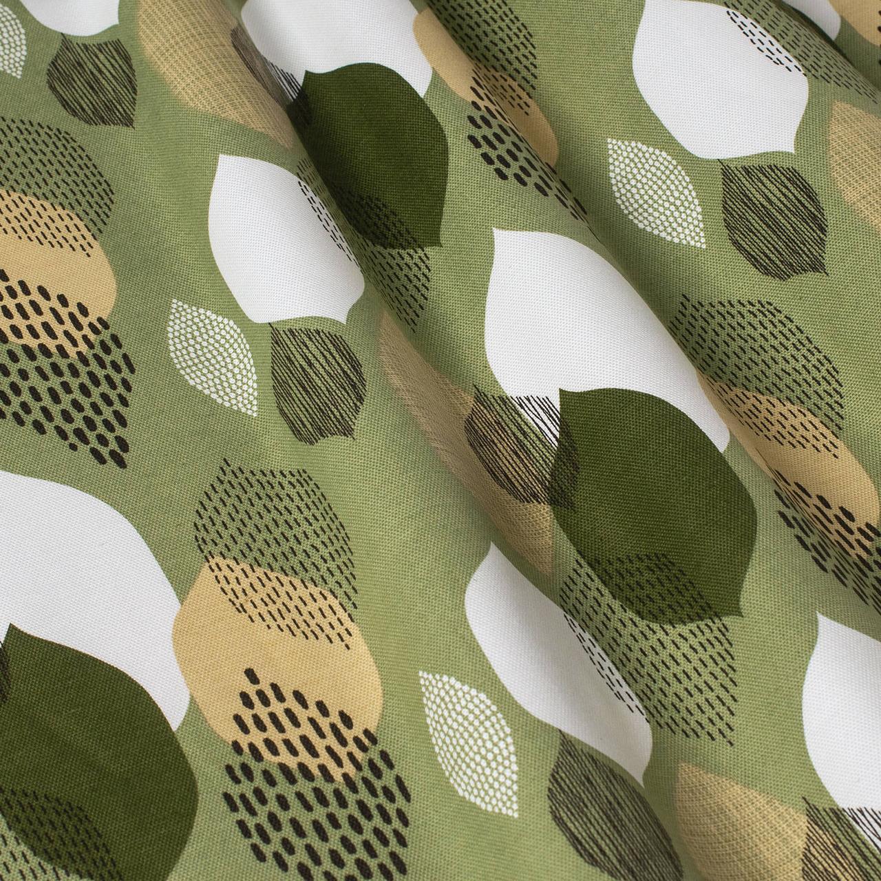 Декоративная ткань капли зеленые Турция 87975v14
