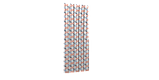 Декоративная ткань сине-оранжевая волна Турция 87964v3, фото 7