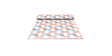Декоративная ткань сине-оранжевая волна Турция 87964v3, фото 8