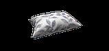 Декоративная ткань синие листья на сером фоне Турция 87961v3, фото 4