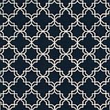 Декоративна тканина білий візерунок на синьому тлі Туреччина 87913v3, фото 2