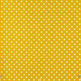 Декоративная ткань горох на желтом фоне Турция 81481v5, фото 2