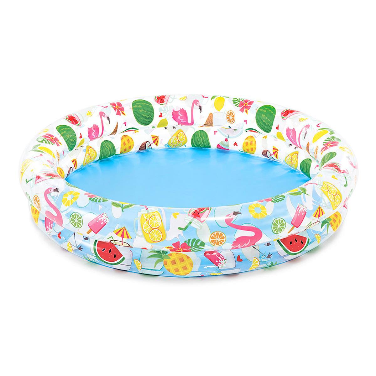 Детский надувной бассейн круглый Intex Веселые Фрукты