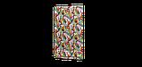 Декоративная ткань розовые и оранжевые цветы на белом фоне Испания 87892v1, фото 5