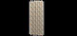 Декоративна тканина помаранчеві і блакитні смуги на білому тлі Іспанія 87881v8, фото 6