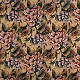 Декоративна тканина жовті і помаранчеві квіти з листям Іспанія 87870v1, фото 2
