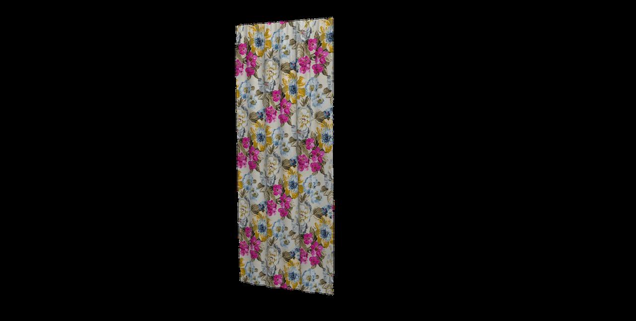 Декоративна тканина жовті квіти сині, рожеві, білі з тефлоновим просоченням Туреччина 87903v3