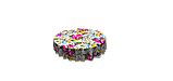 Декоративна тканина жовті квіти сині, рожеві, білі з тефлоновим просоченням Туреччина 87903v3, фото 3