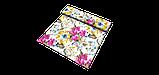 Декоративна тканина жовті квіти сині, рожеві, білі з тефлоновим просоченням Туреччина 87903v3, фото 4
