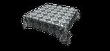 Декоративная ткань вензель синий с тефлоновой пропиткой Турция 87844v11, фото 4