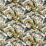 Декоративна тканина тропічні листя оливкові з тефлоновим просоченням Туреччина 87843v2, фото 2